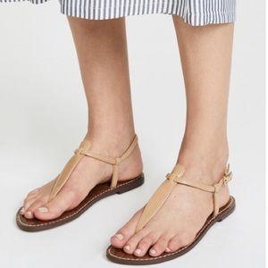 Sam Edelman Gigi Tan Patent Leather Thong Sandals